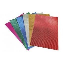 Cartón Micro Corrugado Metalizado A4 x 20