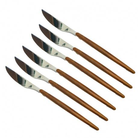 Cuchillo set x6 madera