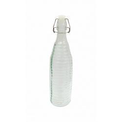 Botella de vidrio con tapa 1 Litro