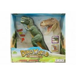 Set de dinosaurios de plástico con mapa