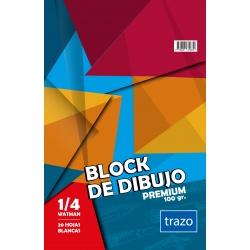 Block Afiche 1/8 Watman TRAZO Premium