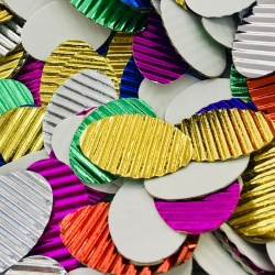 Formas de cartón corrugado metalizado 80g