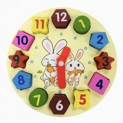 Reloj Formas Geométricas Madera I.856