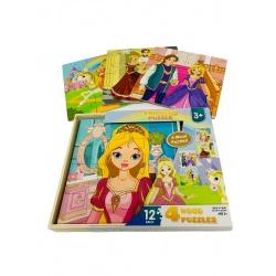 Puzzle princesas 12piezas 4 modelos i.074
