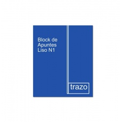 Block de Apuntes Liso N1 Chico TRAZO Premium