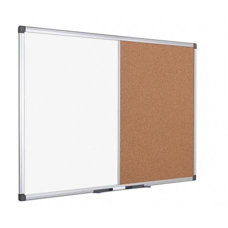 Pizarra marco Aluminio + Corcho 60 x 90cm