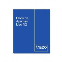 Block de Apuntes Liso N2 Mediano TRAZO Premium