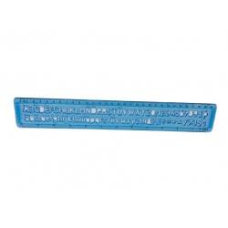 Regla plantilla letras y números 0.30 cm